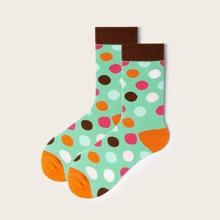 Maenner Socken mit Punkten Muster