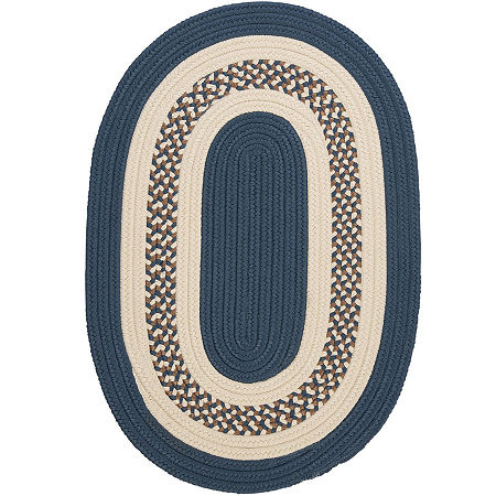 Colonial Mills Lighthouse Reversible Braided Indoor/Outdoor Oval Rug, One Size , Blue