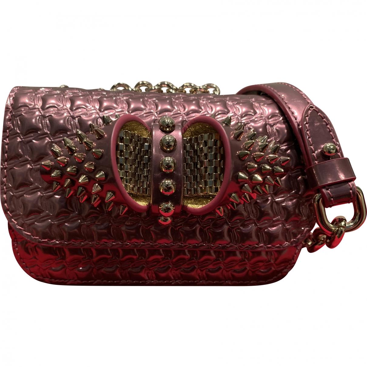 Christian Louboutin Sweet Charity Pink Leather handbag for Women \N