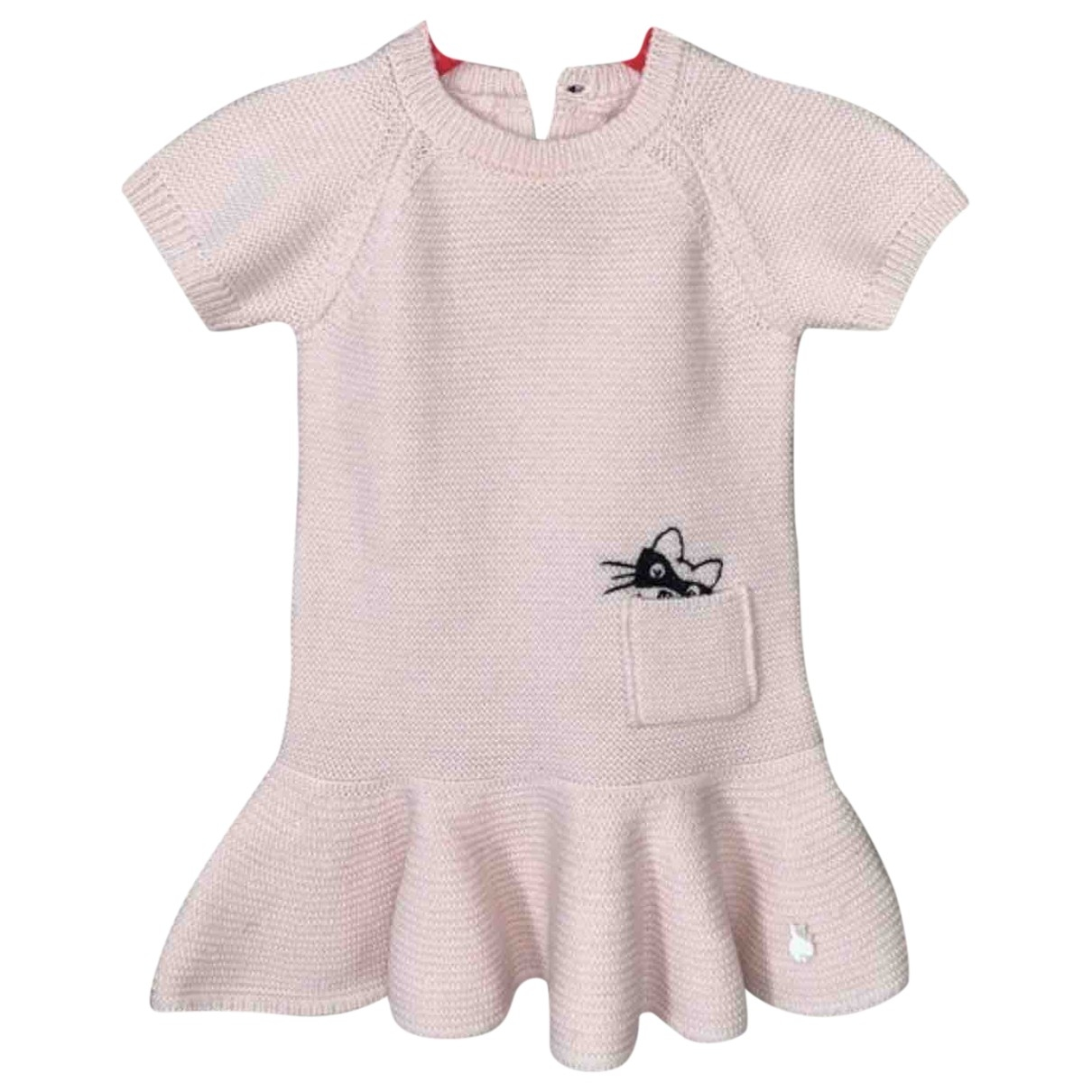 Baby Dior - Robe    pour enfant en laine - rose