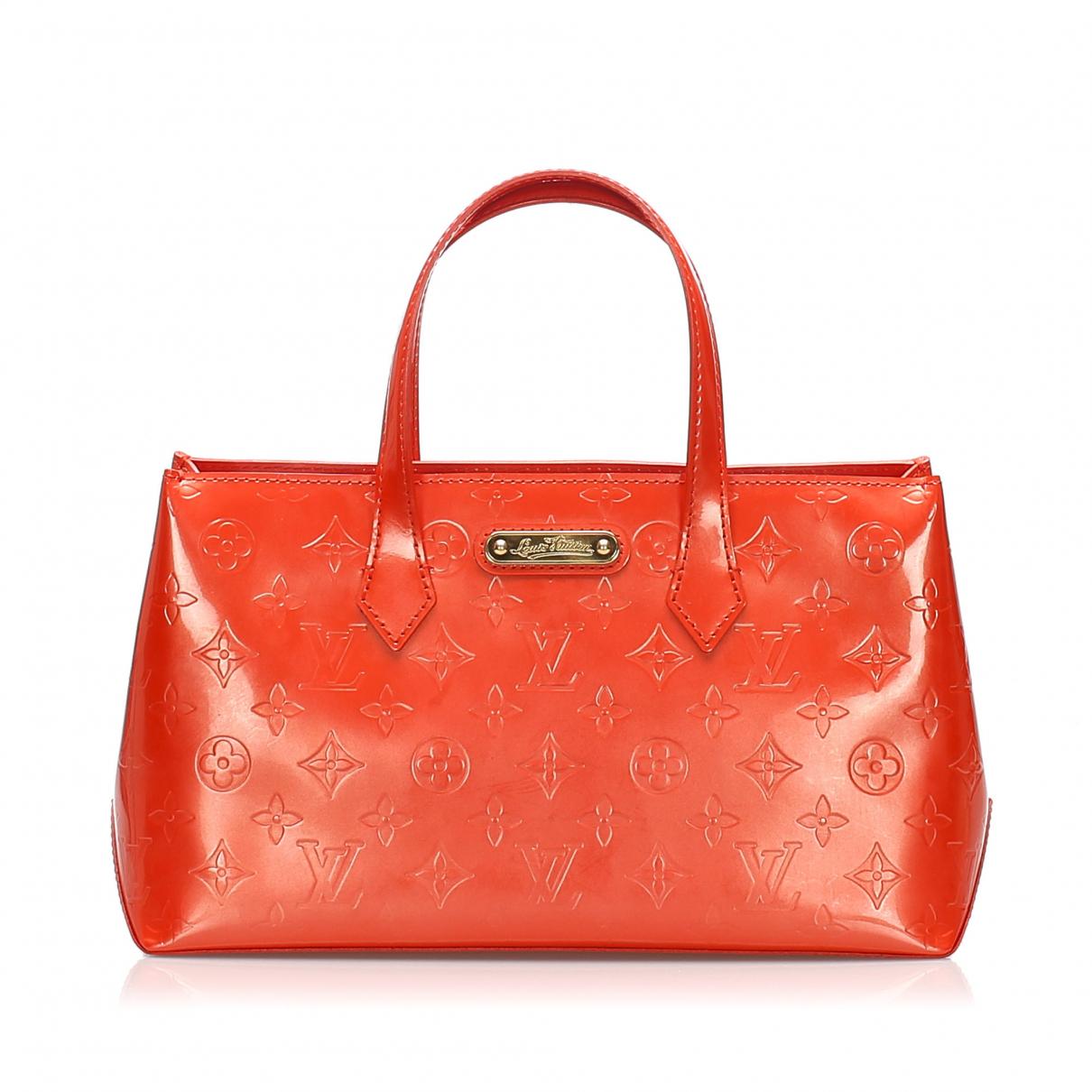 Louis Vuitton - Sac a main Wilshire pour femme en cuir - rouge
