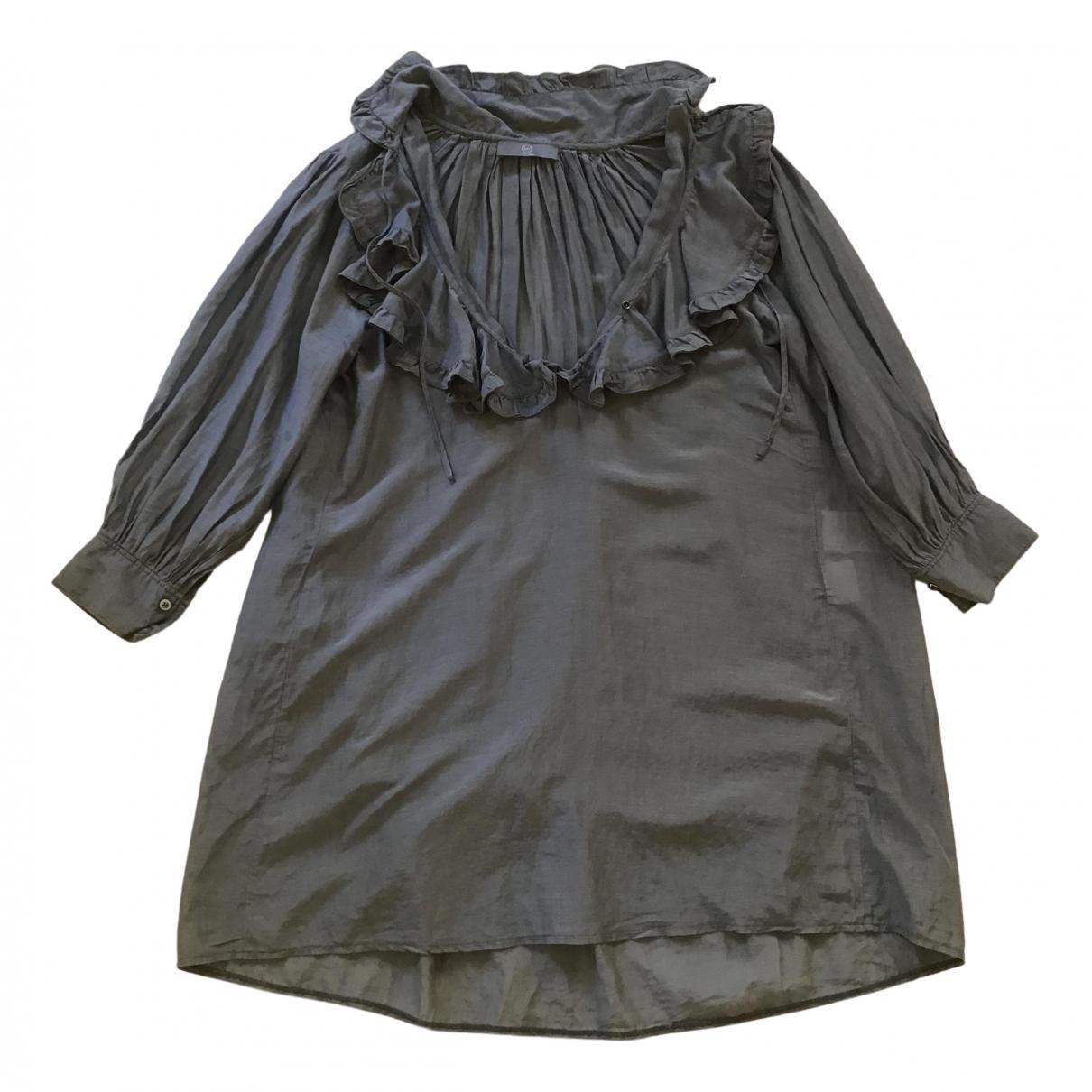 Mcq - Top   pour femme en soie - gris
