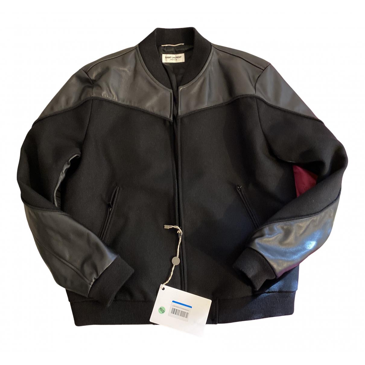 Saint Laurent N Black Wool jacket  for Men 52 IT