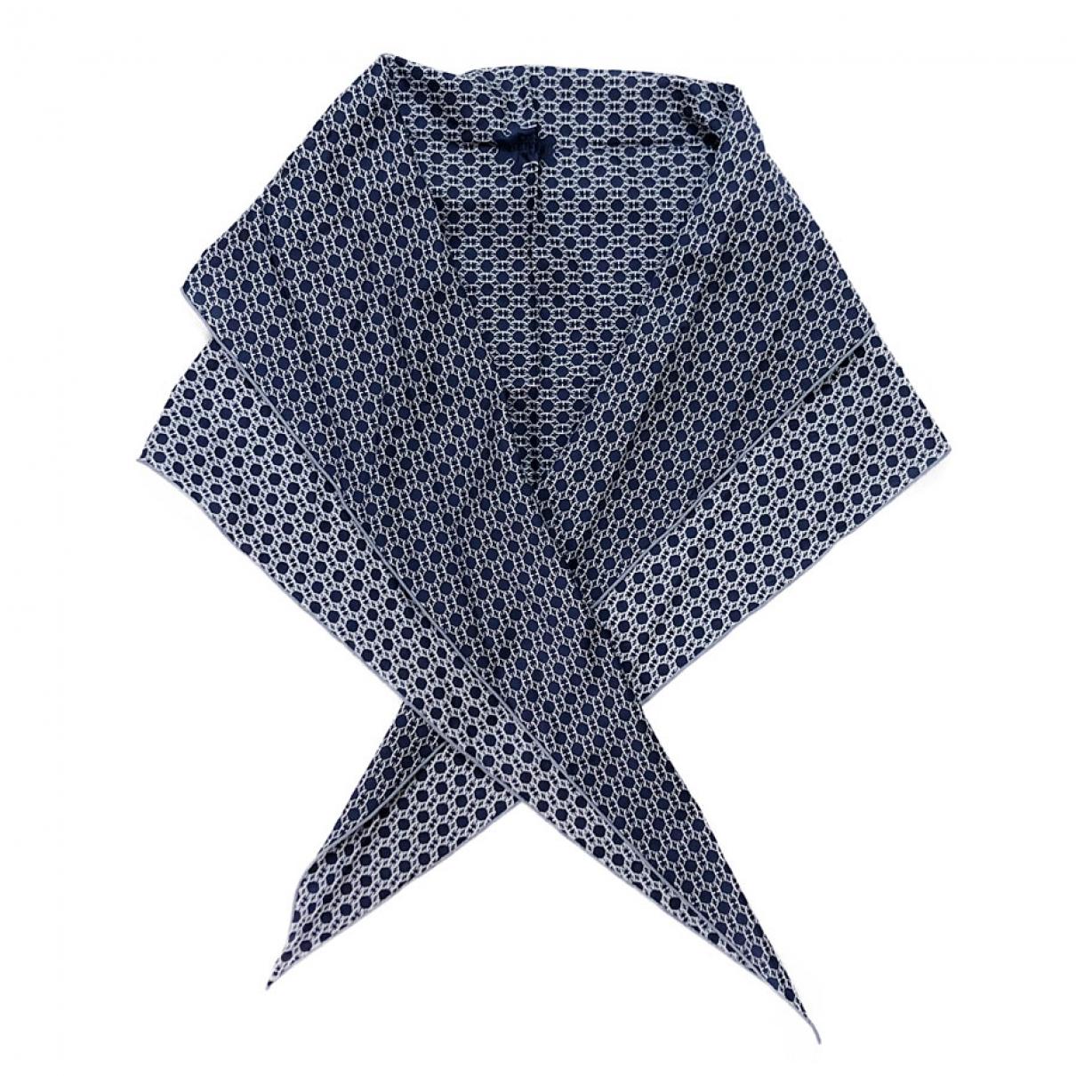 Hermes \N Schal in  Blau Baumwolle