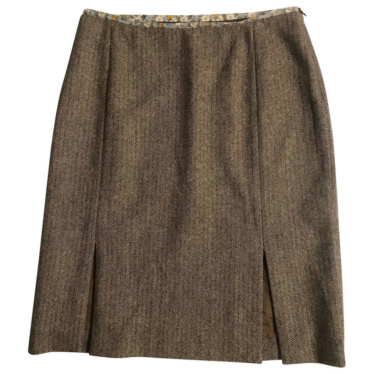 Tara Jarmon \N Rocke in  Braun Wolle