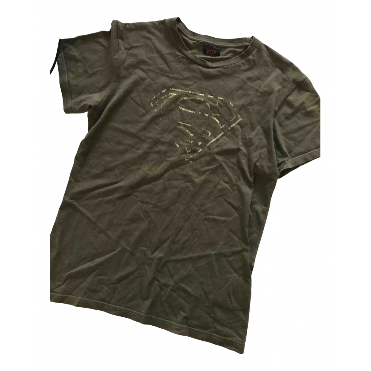 Zara \N Khaki Cotton T-shirts for Men M International