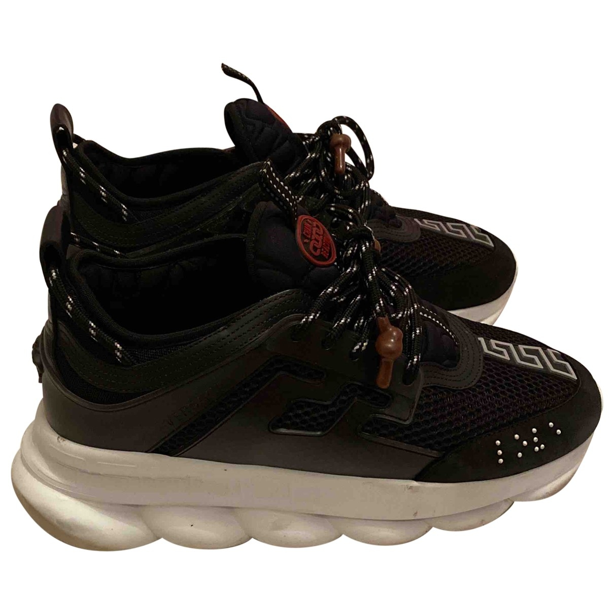 Versace - Baskets Chain Reaction pour homme en toile - noir