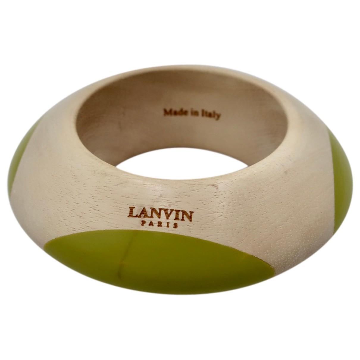 Lanvin - Bracelet   pour femme en bois - vert