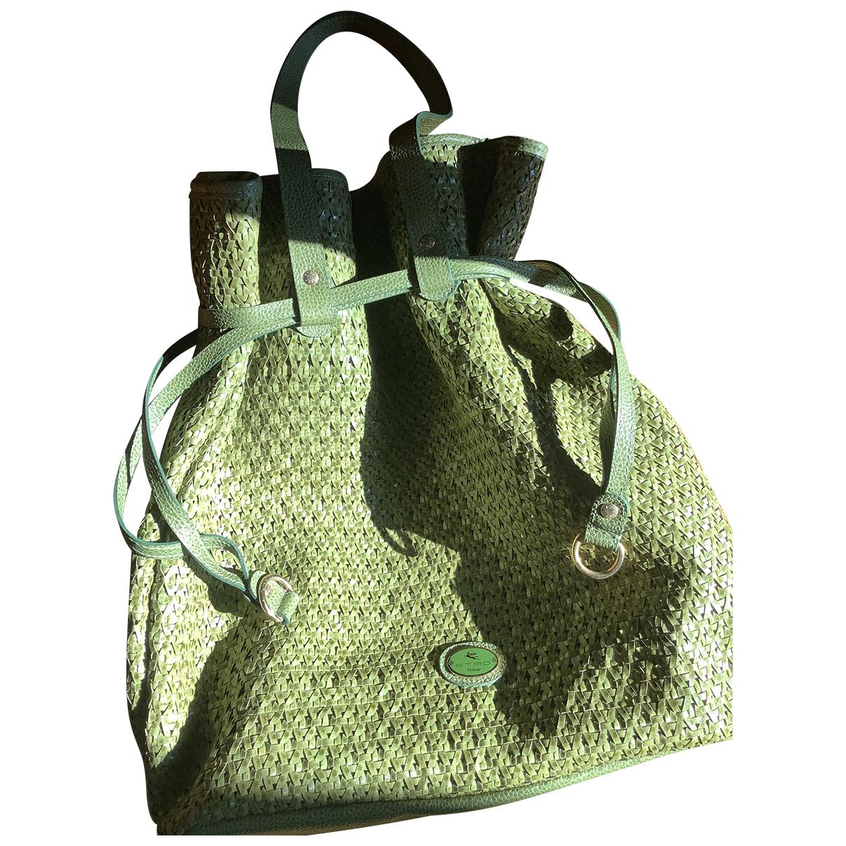 Etro N Green Leather handbag for Women N