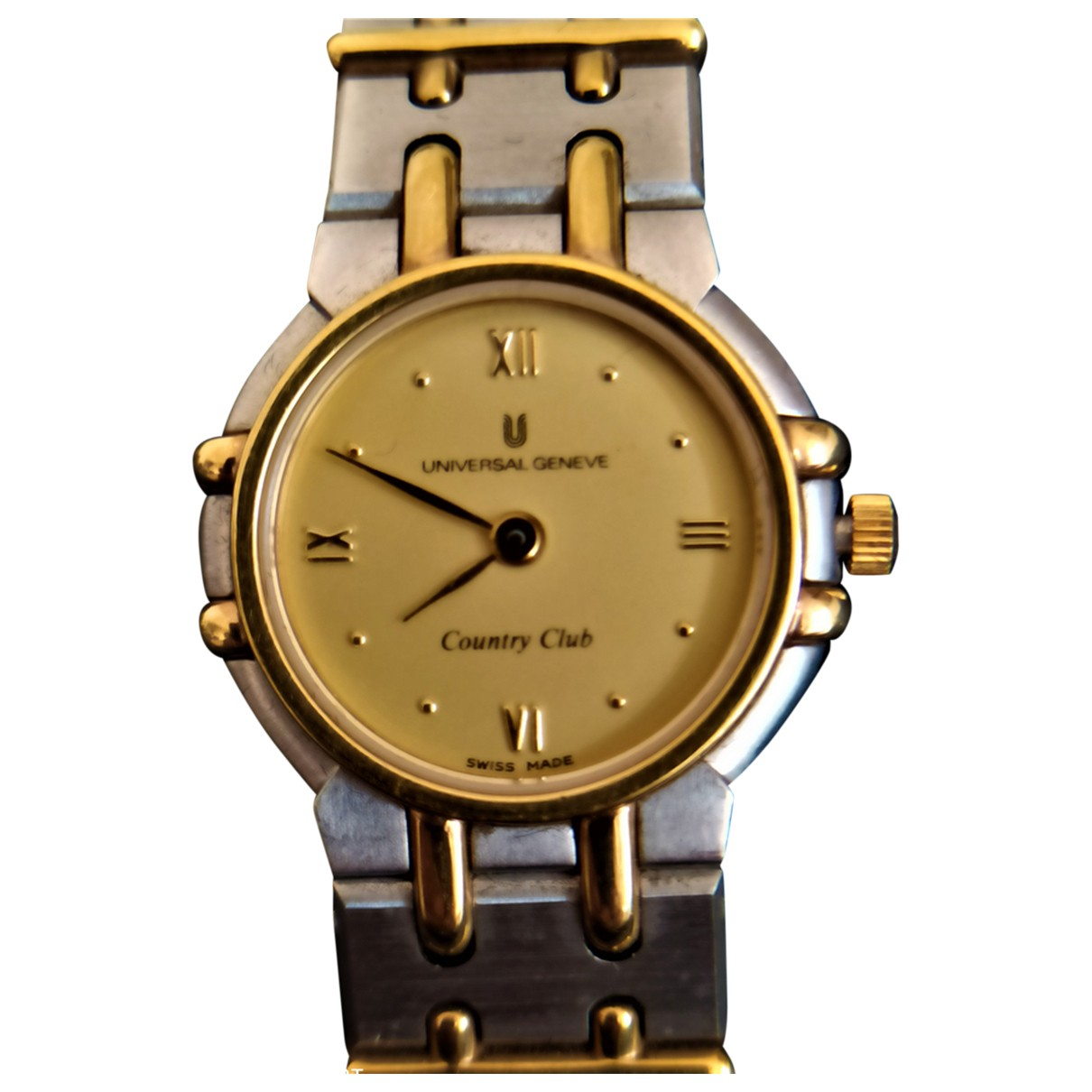 Universal Geneve \N Silver Gold plated watch for Women \N