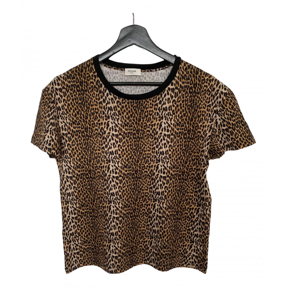 Celine - Tee shirts   pour homme en coton - beige