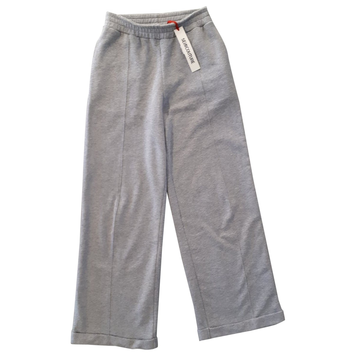 Semicouture \N Grey Cotton Trousers for Women M International