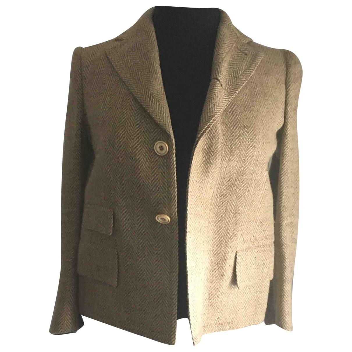 Ralph Lauren \N Jacke in  Beige Wolle