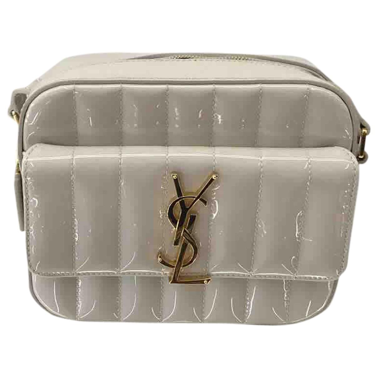 Yves Saint Laurent - Pochette   pour femme en cuir verni - blanc