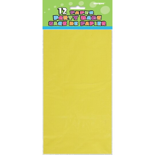 2 Pack of Yellow Paper Party Bags, 12Ct By Unique | Michaels®