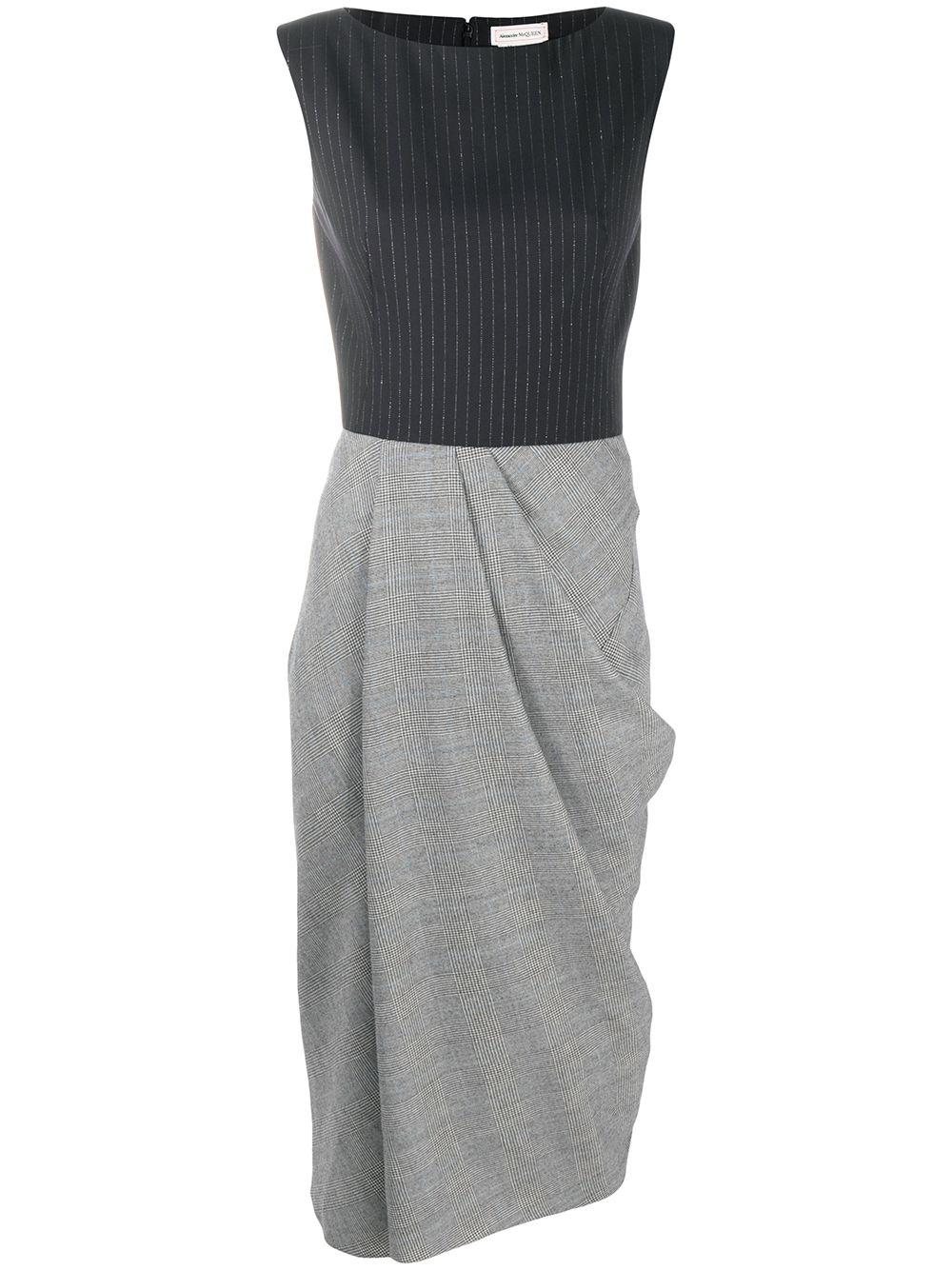 Wool Draped Midi Dress