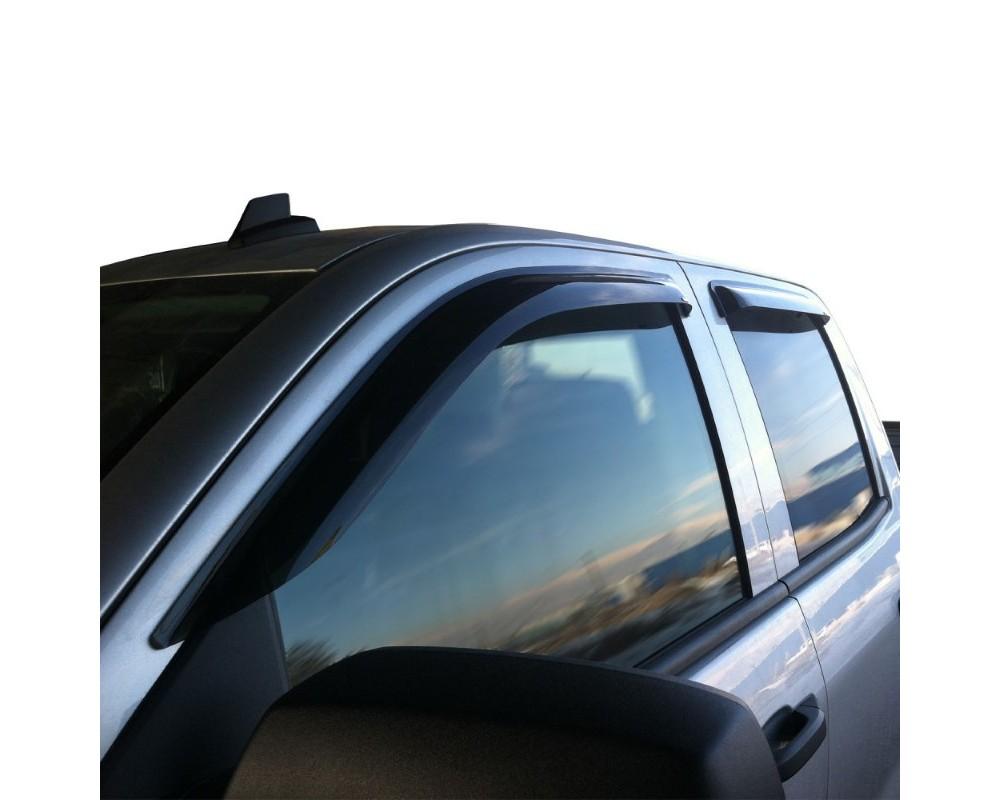 Westin Wade 4pc Tape On Wind Deflector Chevrolet Silverado 1500 Dbl Cab 2014-2018