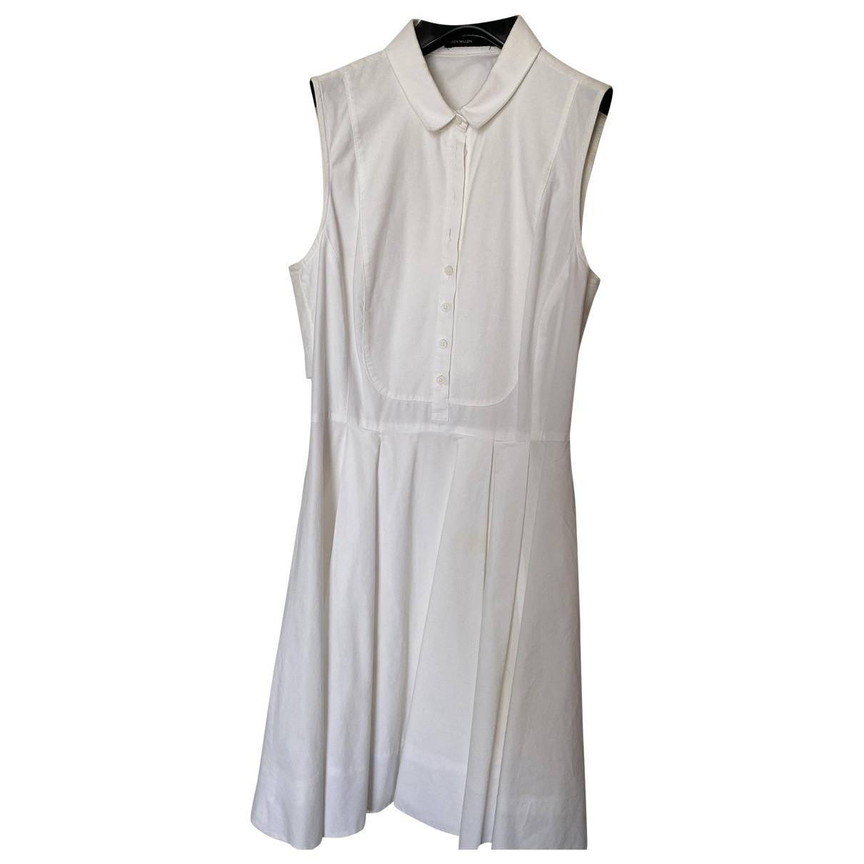 Karen Millen - Robe   pour femme en coton - blanc