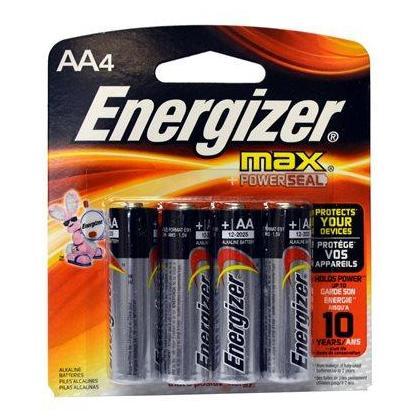 ENERGIZER MAX AA 4 PK