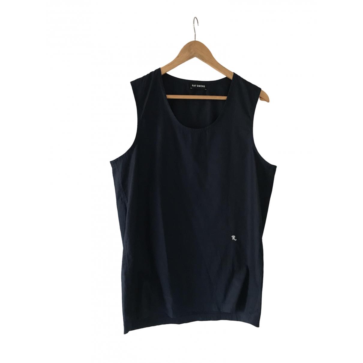 Raf Simons - Tee shirts   pour homme en coton - marine