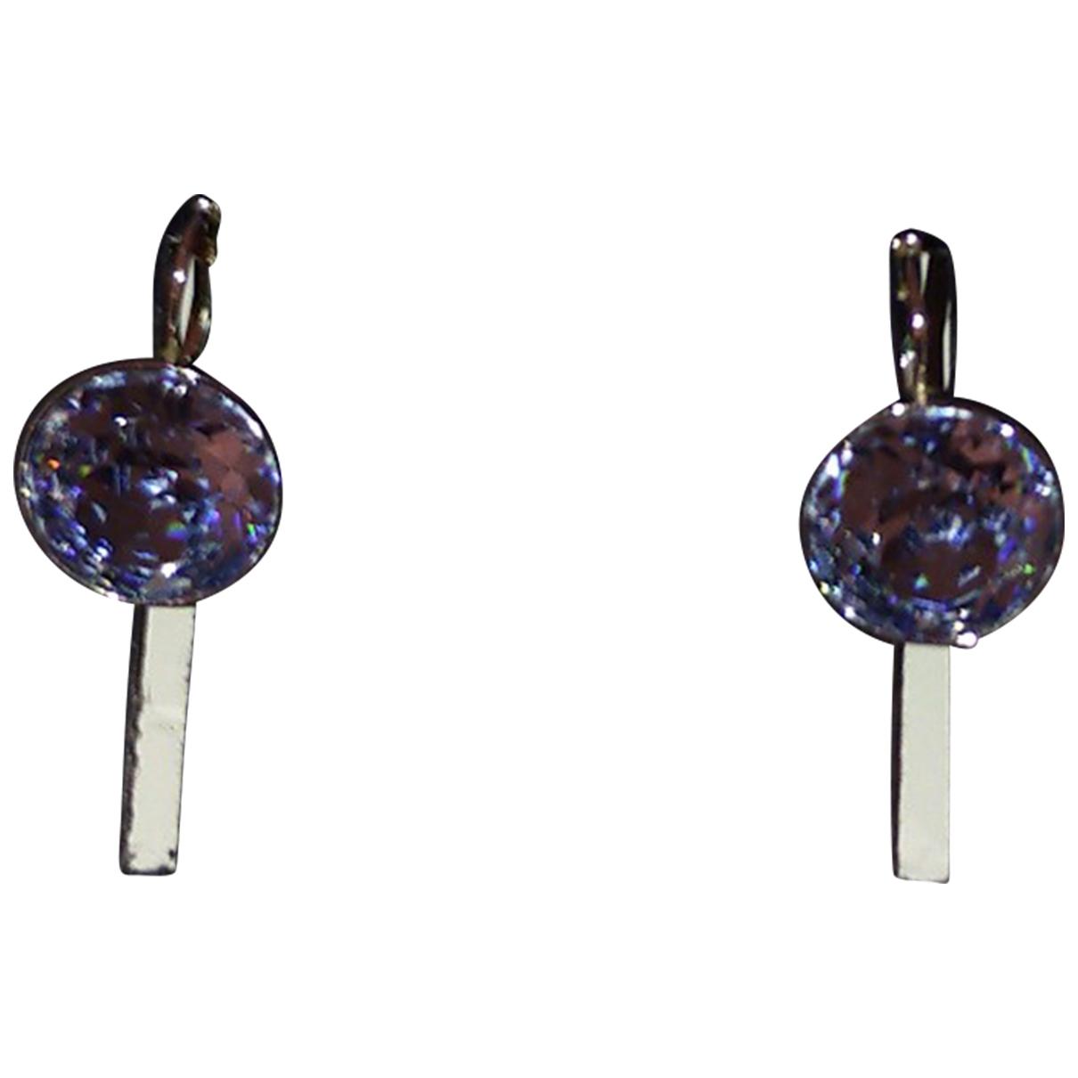 Swarovski - Boucles doreilles   pour femme en acier - bleu