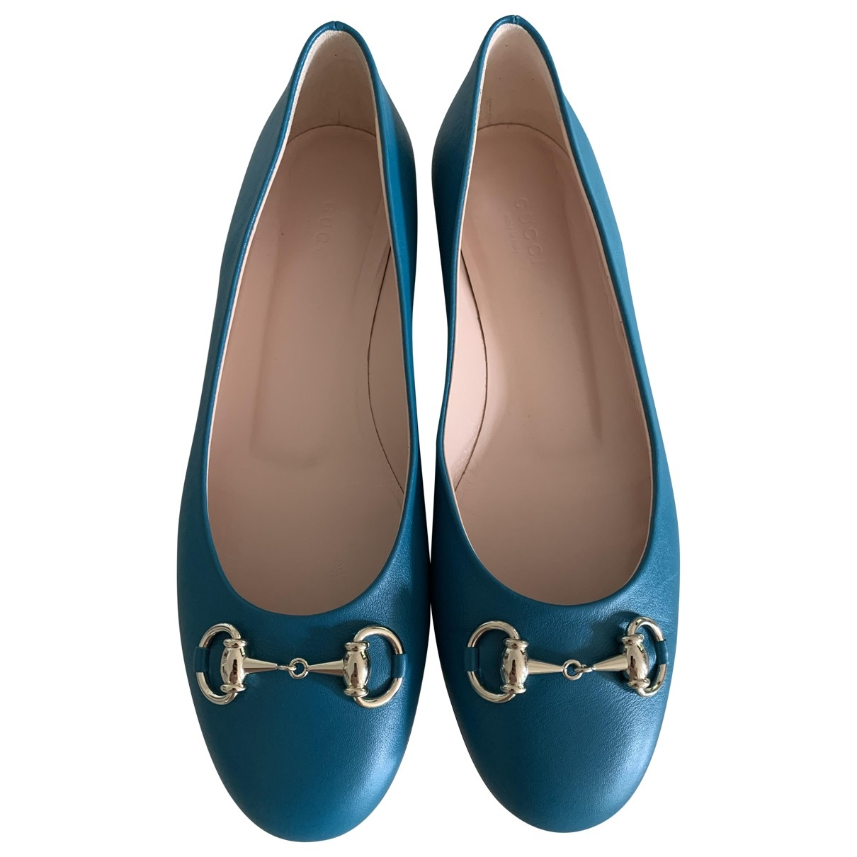 Gucci - Ballerines   pour femme en cuir - bleu