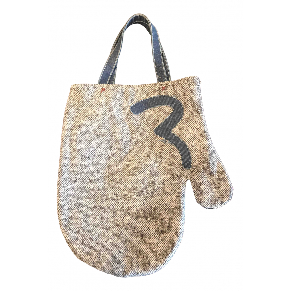 Evisu N Grey Tweed handbag for Women N
