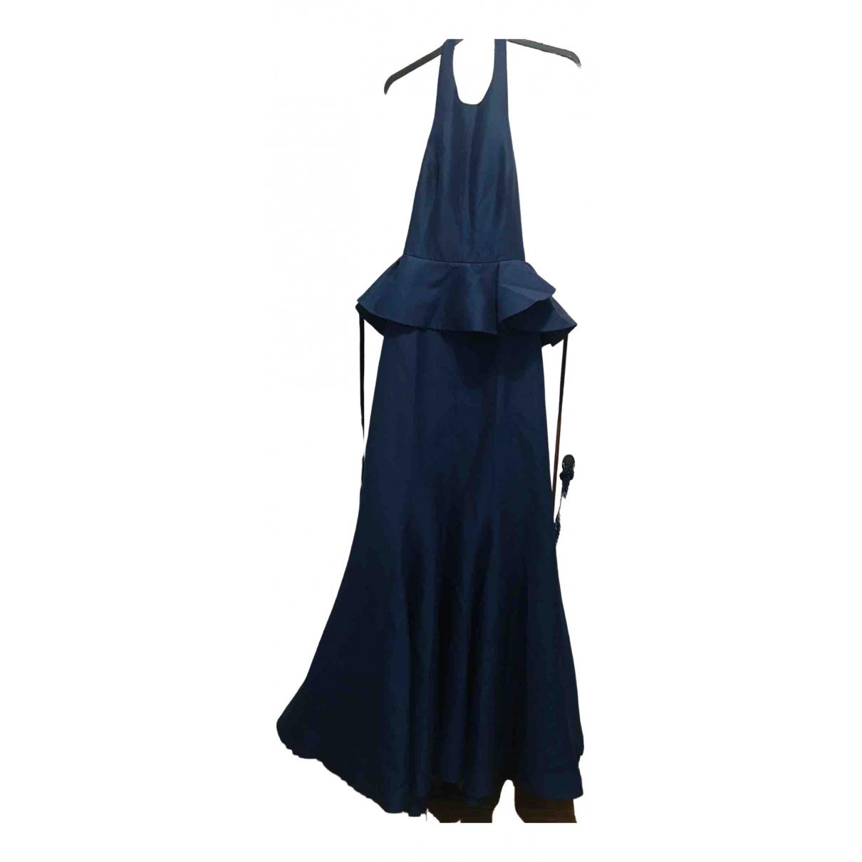 Halston Heritage - Robe   pour femme en coton - marine