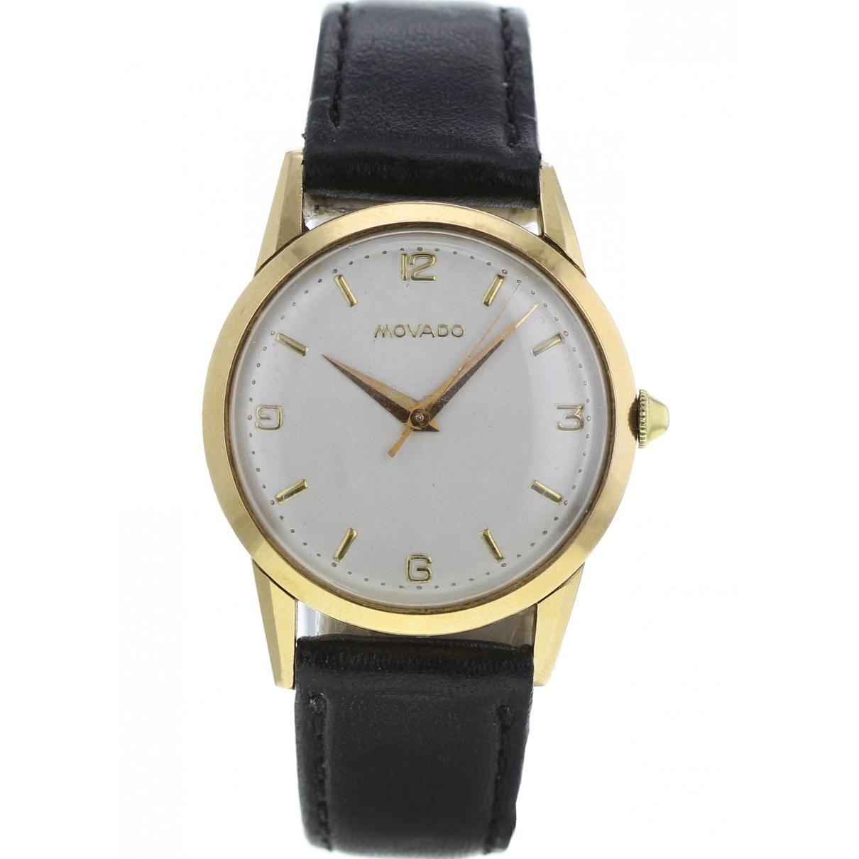 Movado \N Khaki Yellow gold watch for Men \N