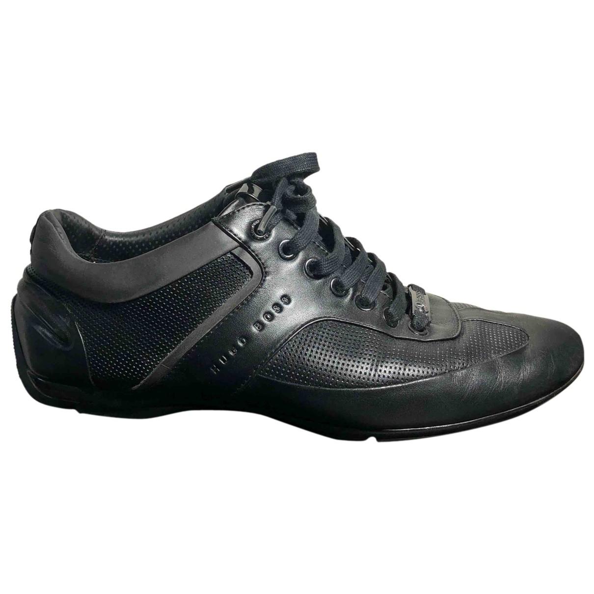 Boss \N Sneakers in  Schwarz Leder
