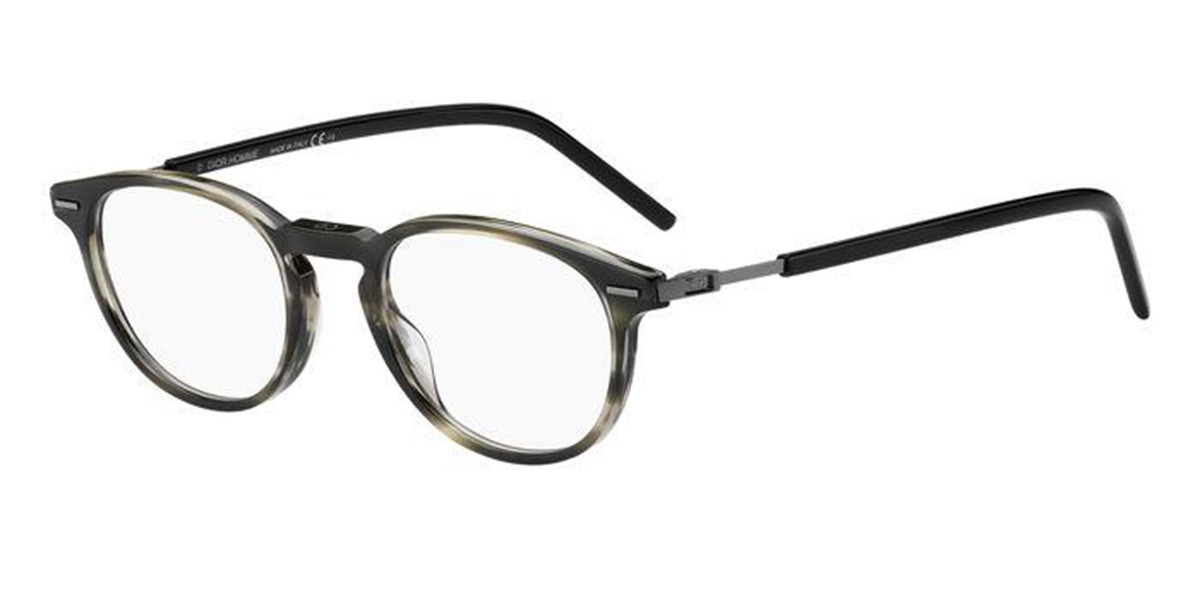Dior TECHNICITY O2 ACI Men's Glasses Tortoise Size 48 - Free Lenses - HSA/FSA Insurance - Blue Light Block Available