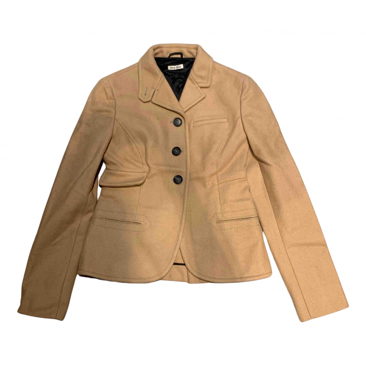 Miu Miu N Beige Wool jacket for Women 36 IT