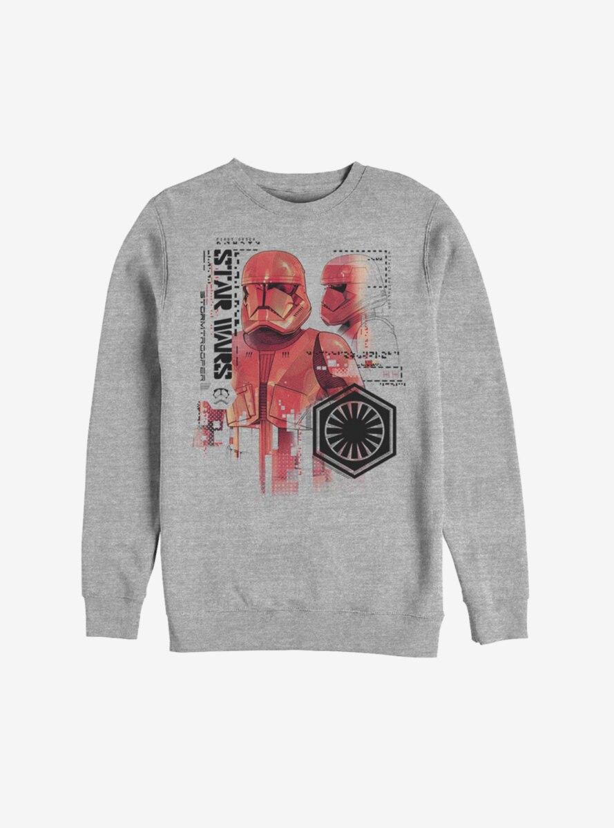 Star Wars Episode IX The Rise Of Skywalker Red Trooper Schematic Sweatshirt