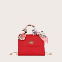 Girls Twilly Scarf Decor Satchel Bag