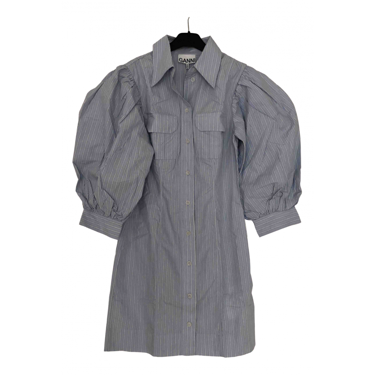 Ganni Spring Summer 2020 Kleid in  Blau Baumwolle