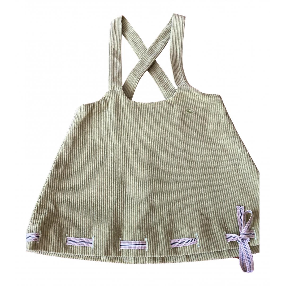 Burberry - Robe    pour enfant en coton - vert