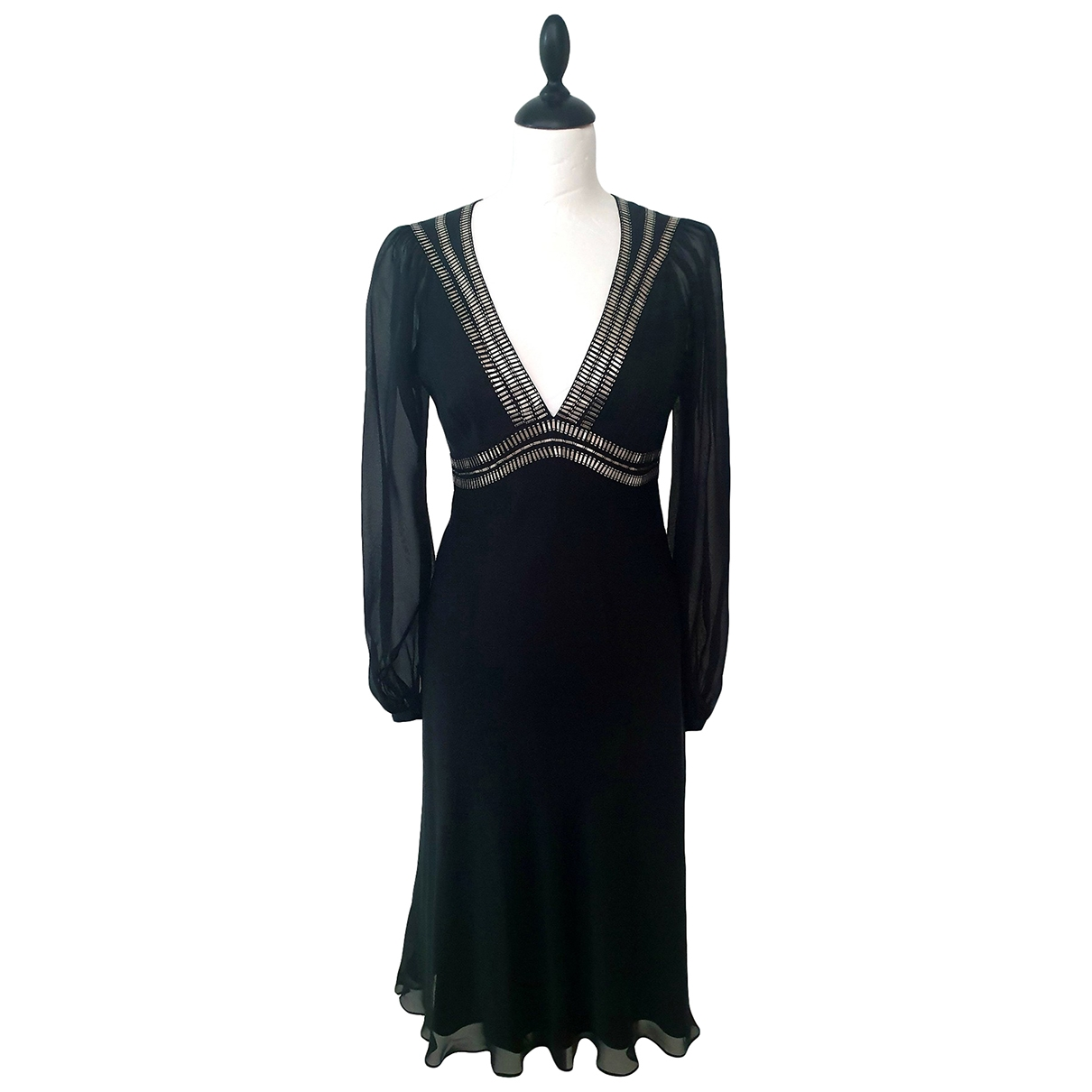 Temperley London \N Kleid in  Schwarz Seide