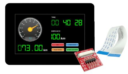 4D Systems gen4-uLCD-43DCT-CLB TFT LCD Colour Display / Touch Screen, 4.3in, 480 x 272pixels