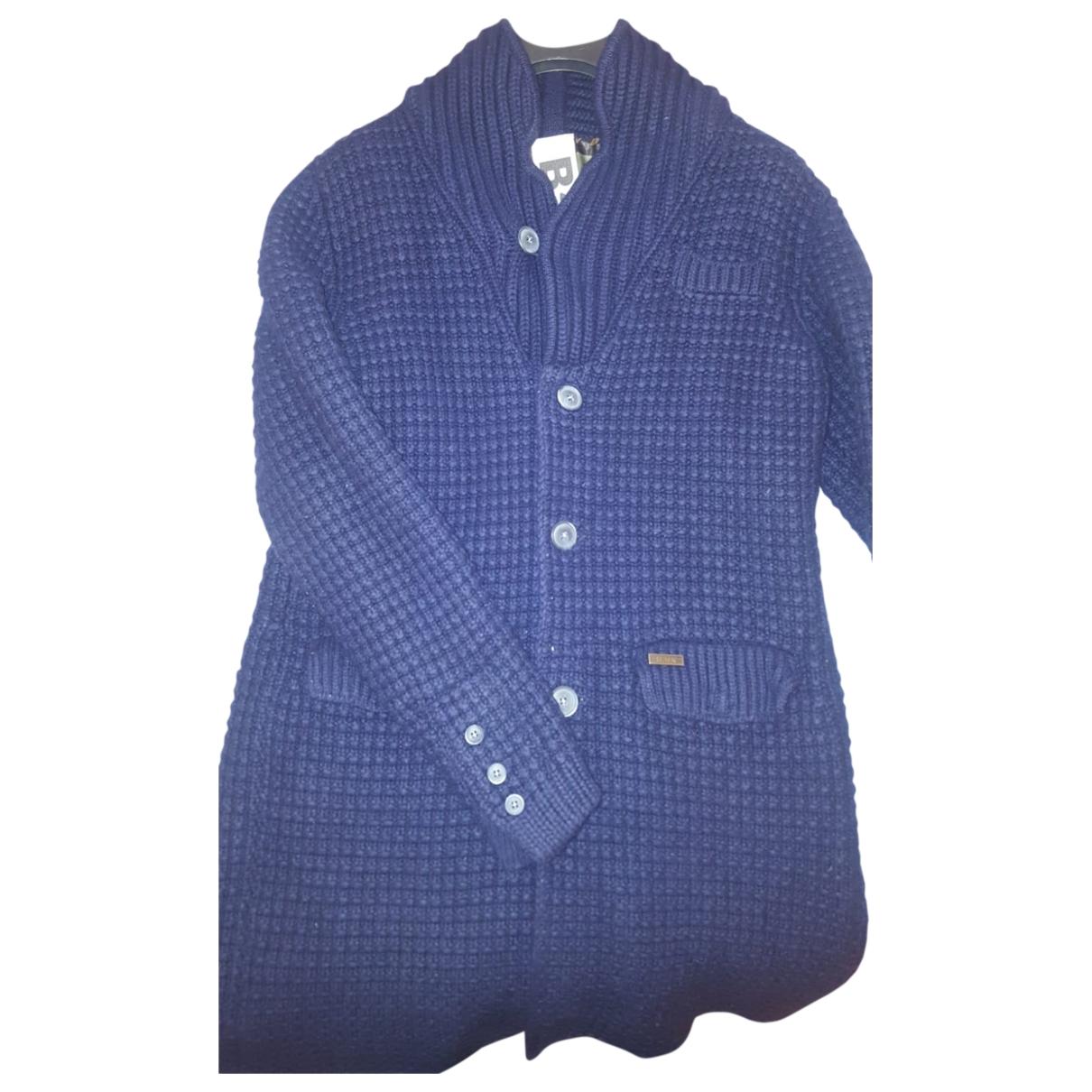Bark \N Maentel in  Blau Wolle