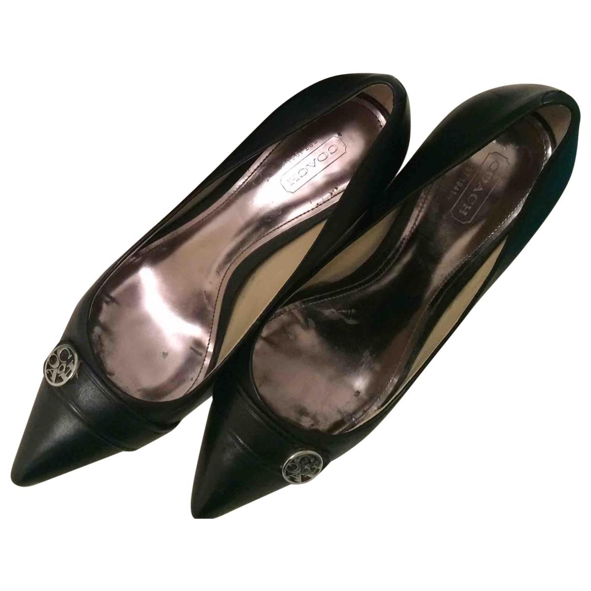 Coach - Escarpins   pour femme en cuir - noir