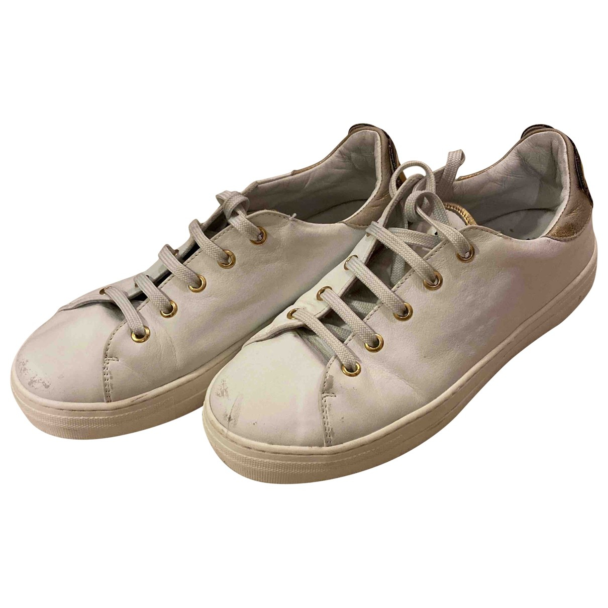 Moschino Cheap And Chic \N White Leather Trainers for Women 40 EU