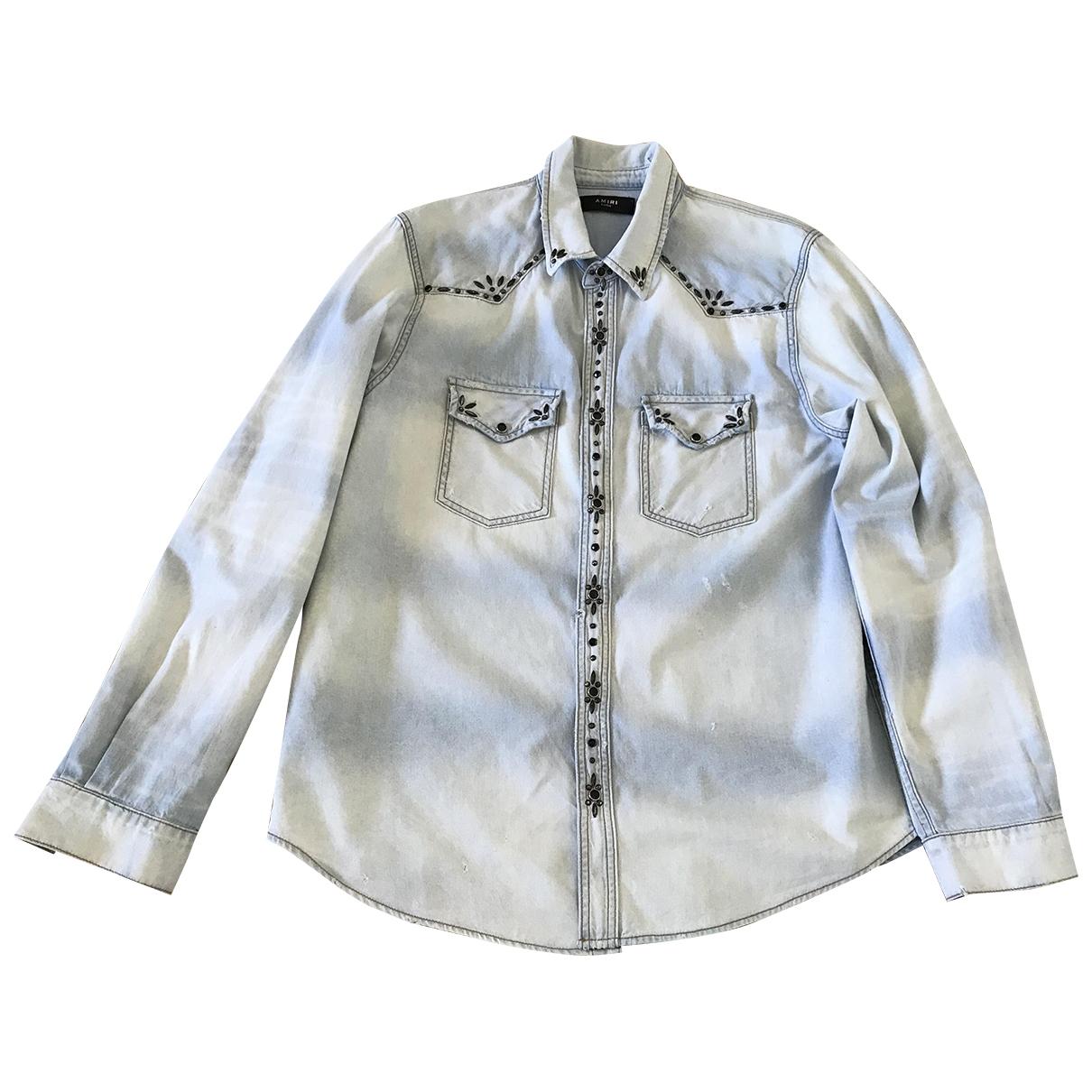 Amiri \N Blue Denim - Jeans Shirts for Men XL International