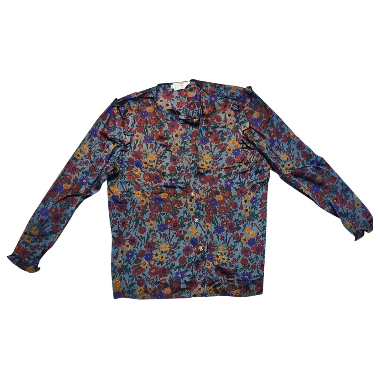 Valentino Garavani - Top   pour femme en soie - multicolore