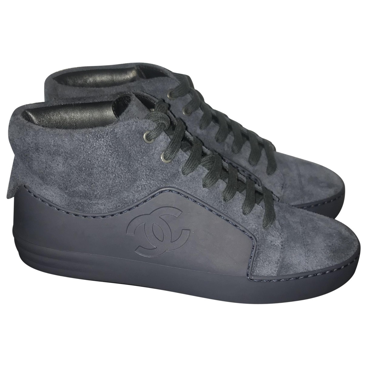 Chanel \N Anthracite Suede Trainers for Women 36 EU