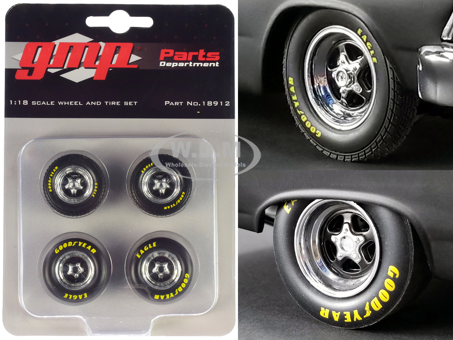 Pro Star 5-Spoke Drag Wheels and Tires Set of 4 pieces from