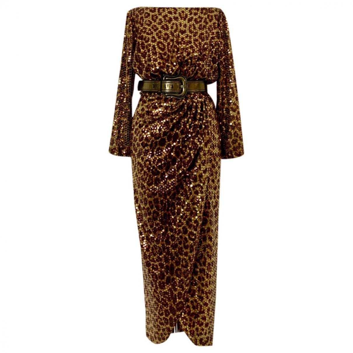 Roberto Cavalli \N Metallic Silk dress for Women 40 IT