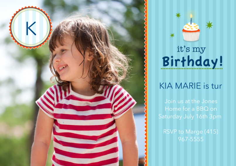 Birthday Party Invites 5x7 Cards, Premium Cardstock 120lb with Scalloped Corners, Card & Stationery -its my Birthday!