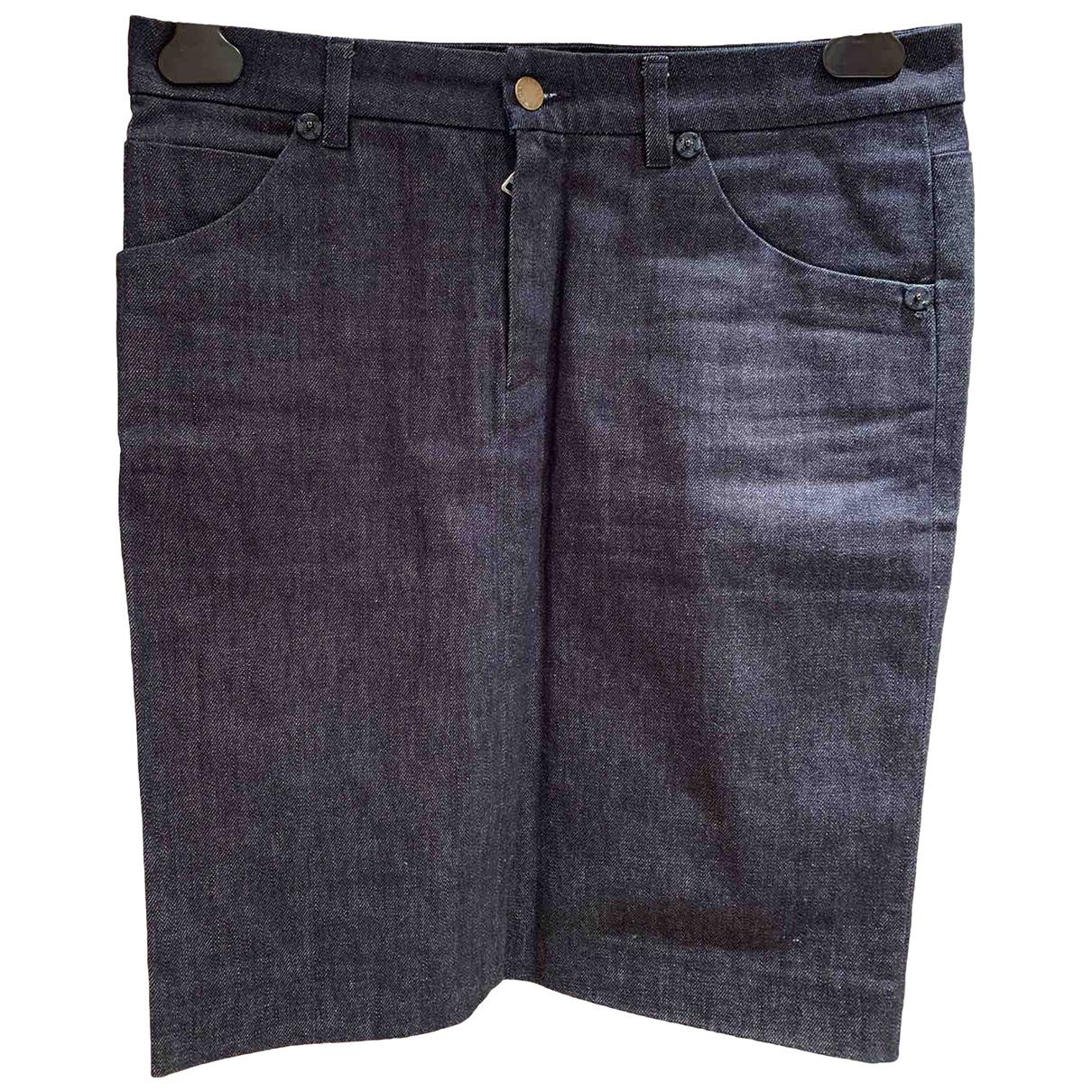 Prada \N Blue Cotton skirt for Women 42 IT