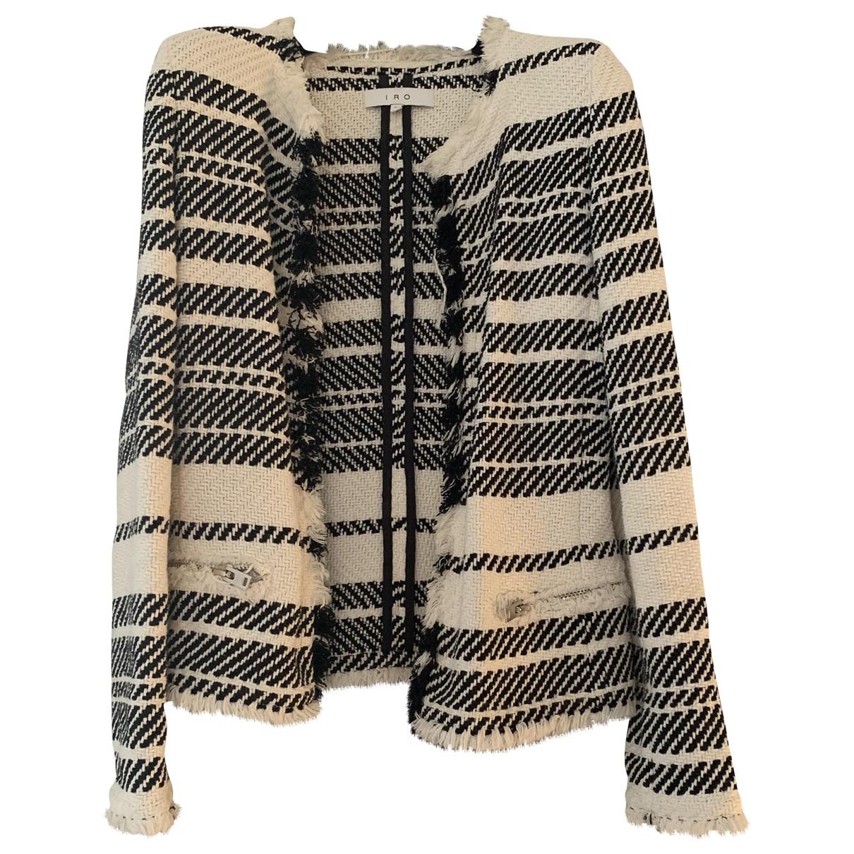 Iro \N White Cotton jacket for Women 34 FR