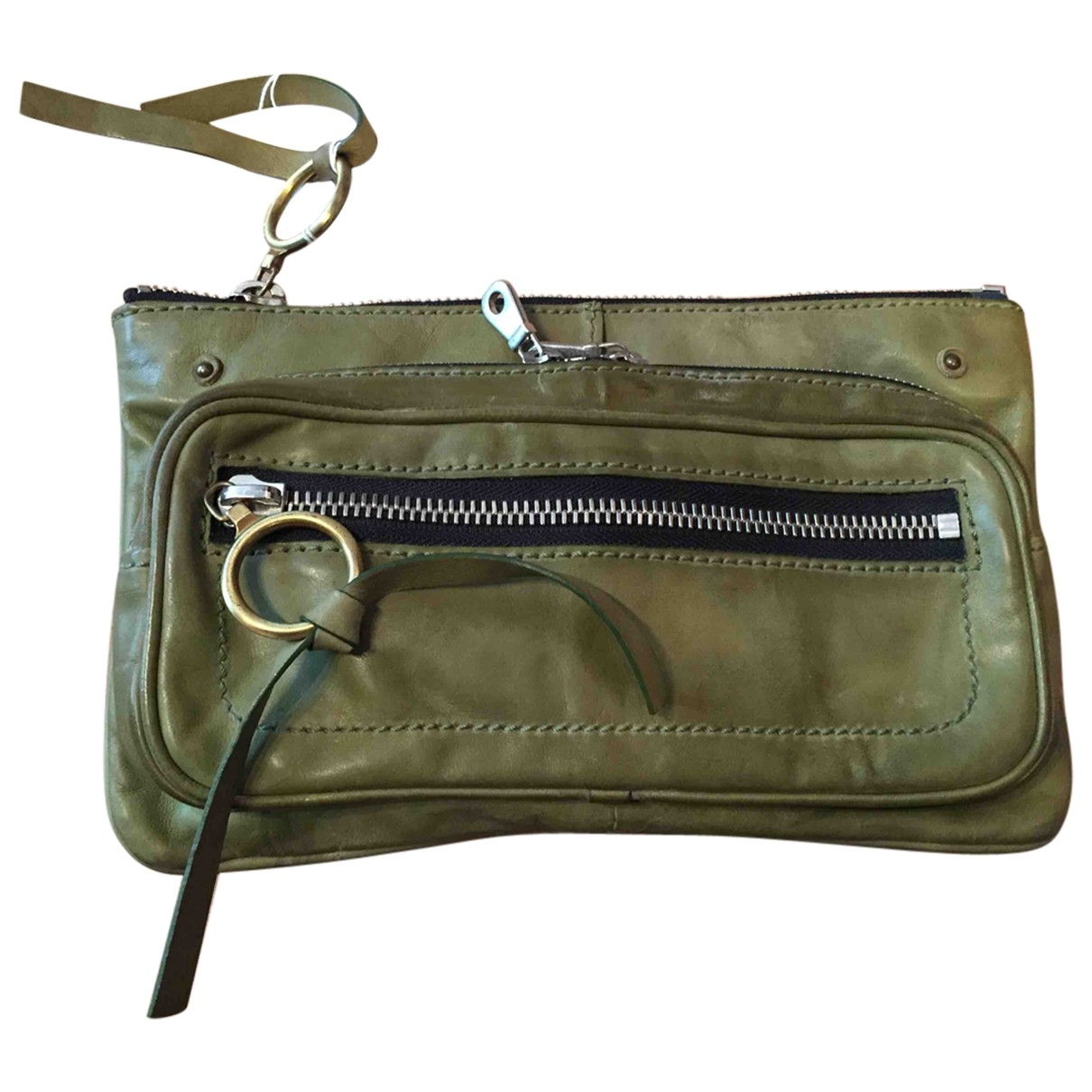 Chloe \N Clutch in  Khaki Leder